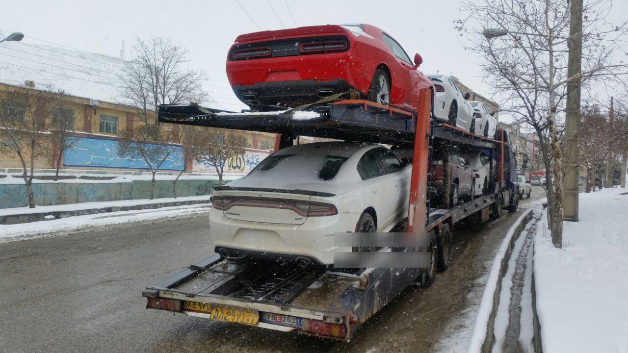 محموله خودروهای آمریکایی در ایران! + عکس