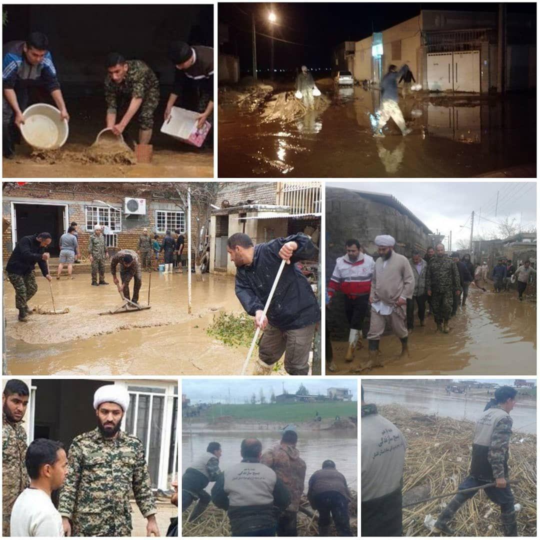 حضور بسیجیان برای کمک به مردم سیلزده گلستان + عکس | بهداشت نیوز