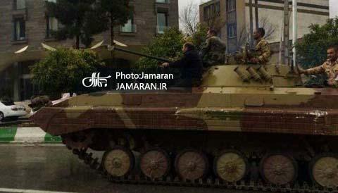 تانک های ارتش در خیابان های شیراز + عکس