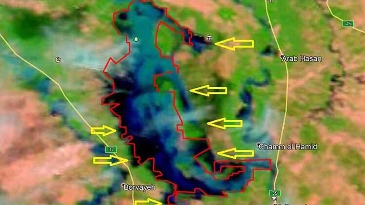 جدیدترین تصاویر ماهوارهای خبر از وقوع سیل در چه شهرهایی میدهند؟