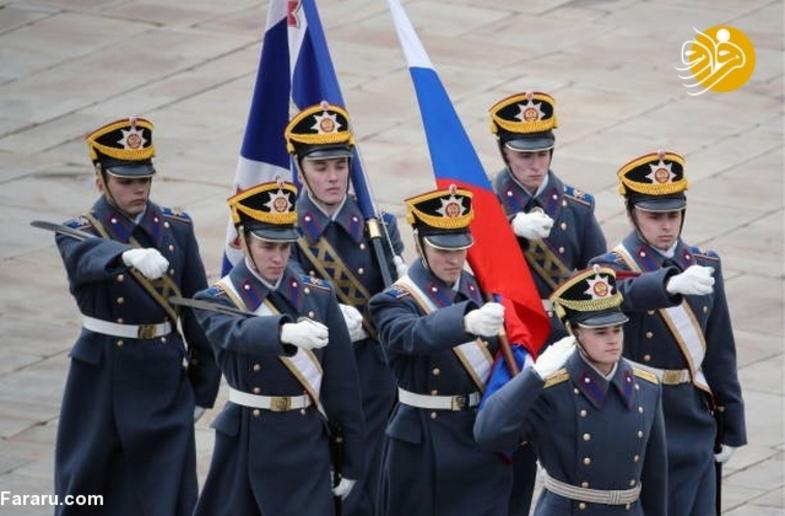 رژه ویژه سربازان گارد ریاست جمهوری روسیه + عکس