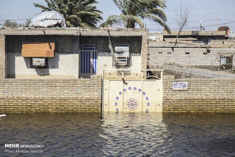 خسارات سیل در روستاهای سوسنگرد + عکس