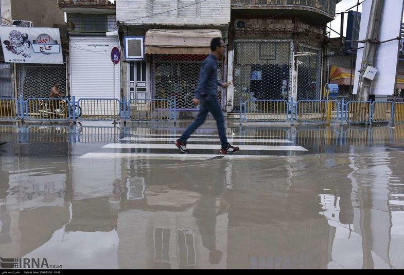 شهر زابل هم زیر آب رفت + عکس