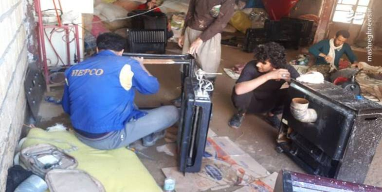 اقدام زیبای تعمیرکاران در پلدختر + عکس