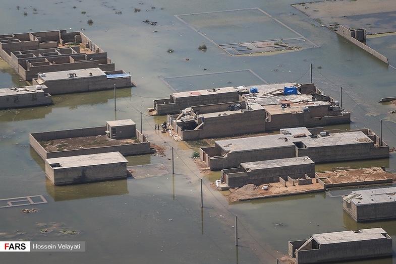 تصاویر هوایی از مناطق سیلزده «اهواز» + عکس