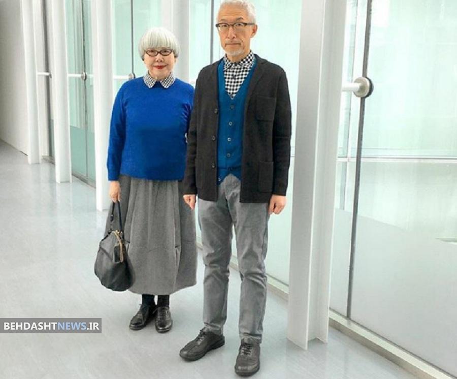 تصاویر زن و شوهری که پس از ۳۷ سال زندگی همچنان لباس هایشان را با هم ست می کنند