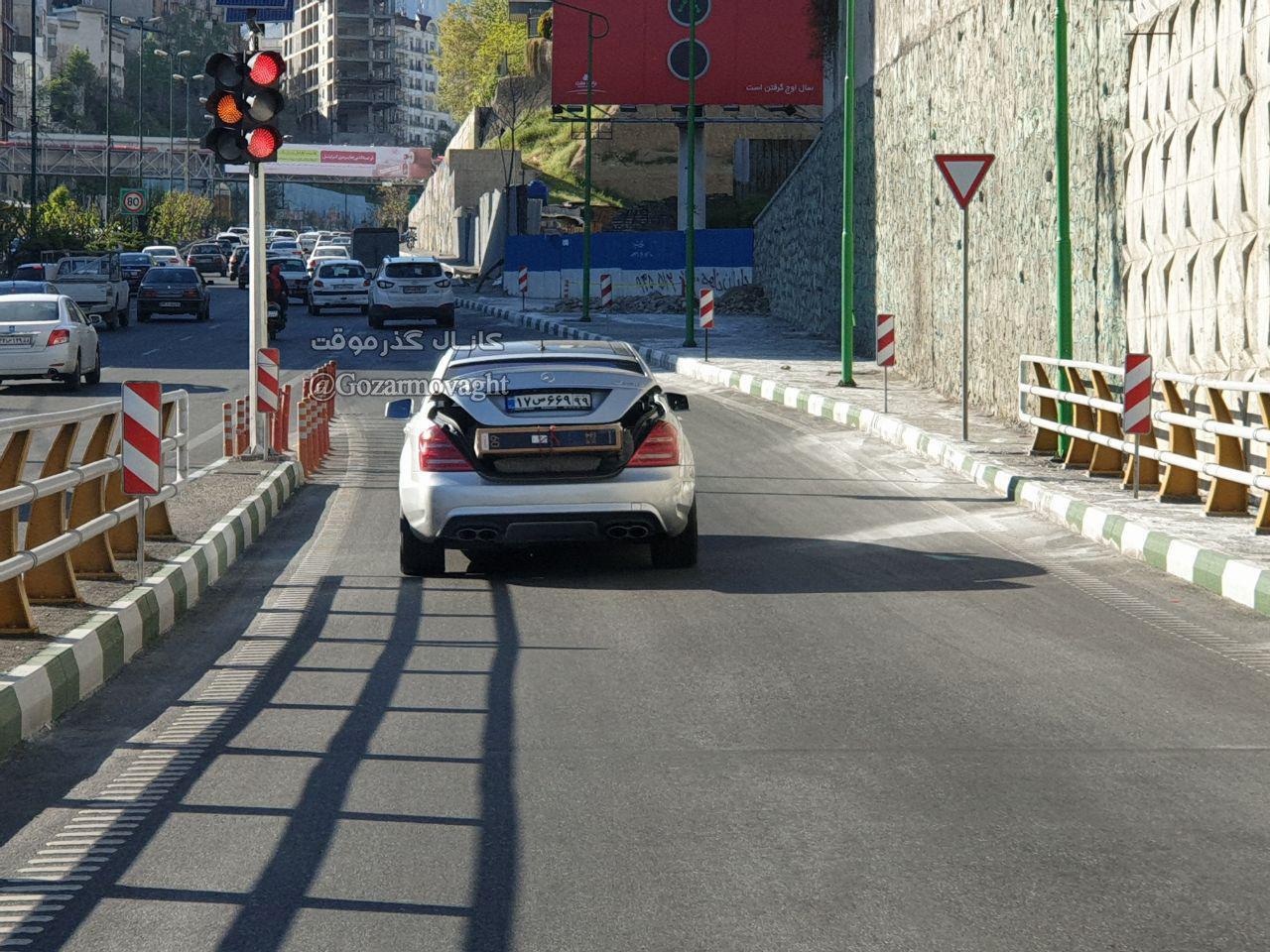 حمل بار با مرسدس بنز در تهران! + عکس