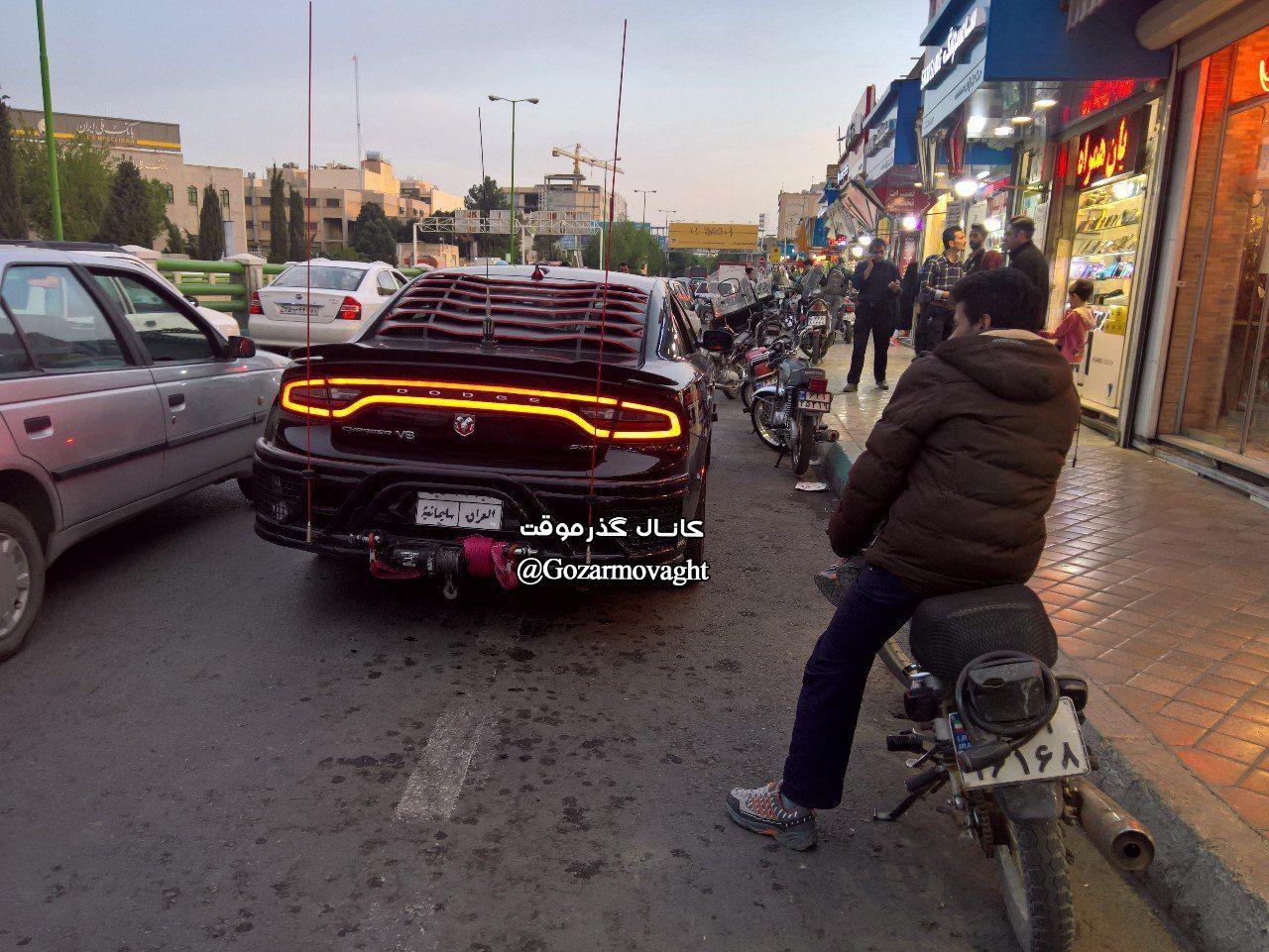 خودروی آمریکایی با پلاک عراق در ایران + عکس