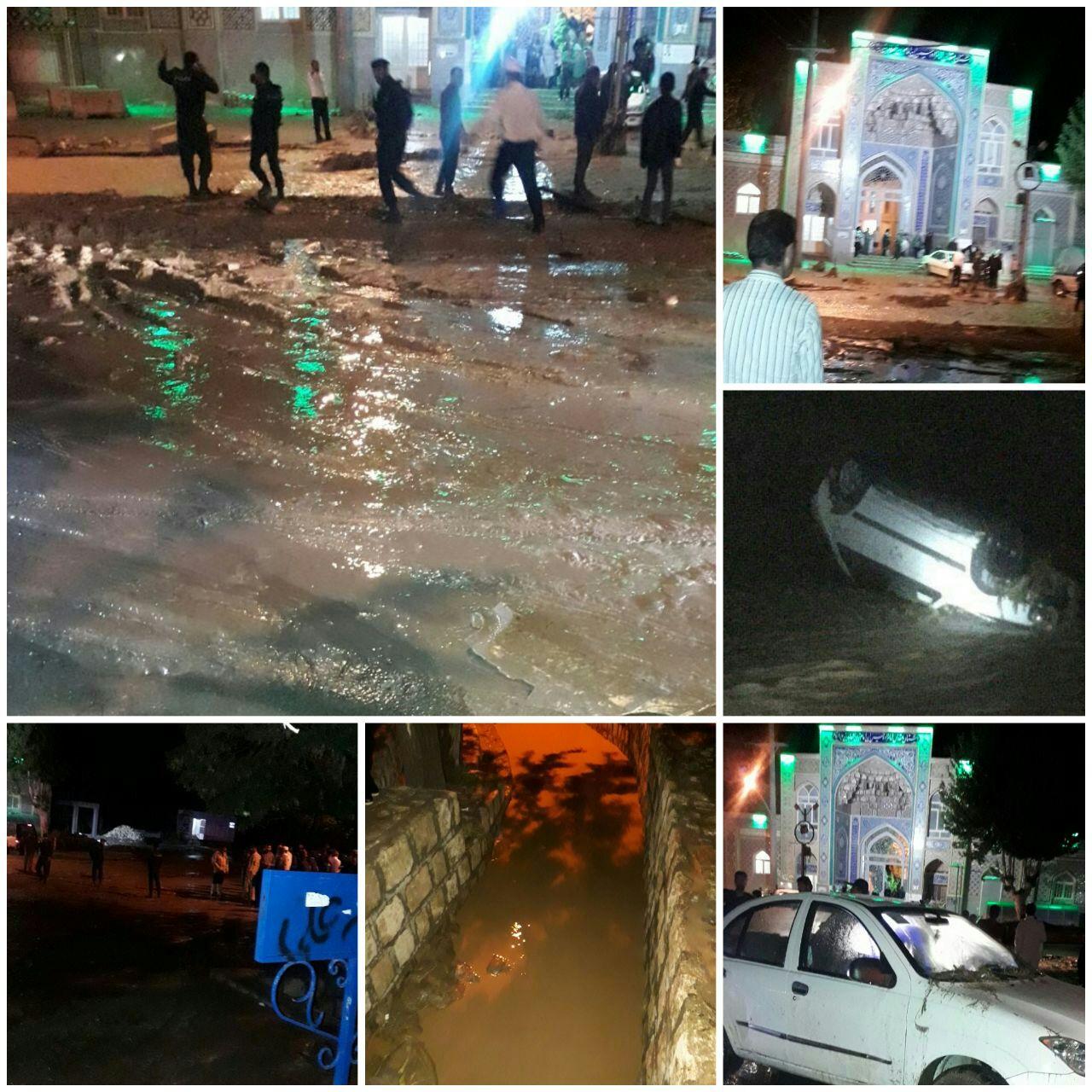 سیلاب ناگهانی ۳ خودرو را برد + عکس