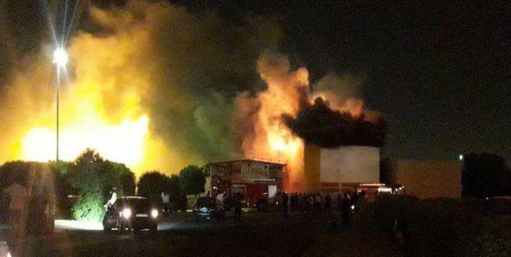 شهربازی سینما پنج بعدی اهواز آتش گرفت  + عکس