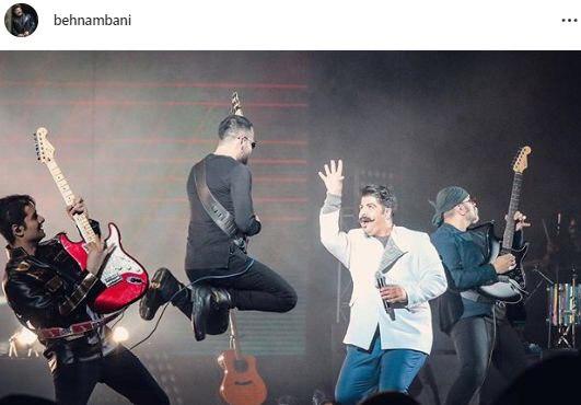 حرکات نامتعارف بهنام بانی در کنسرتش! + عکس