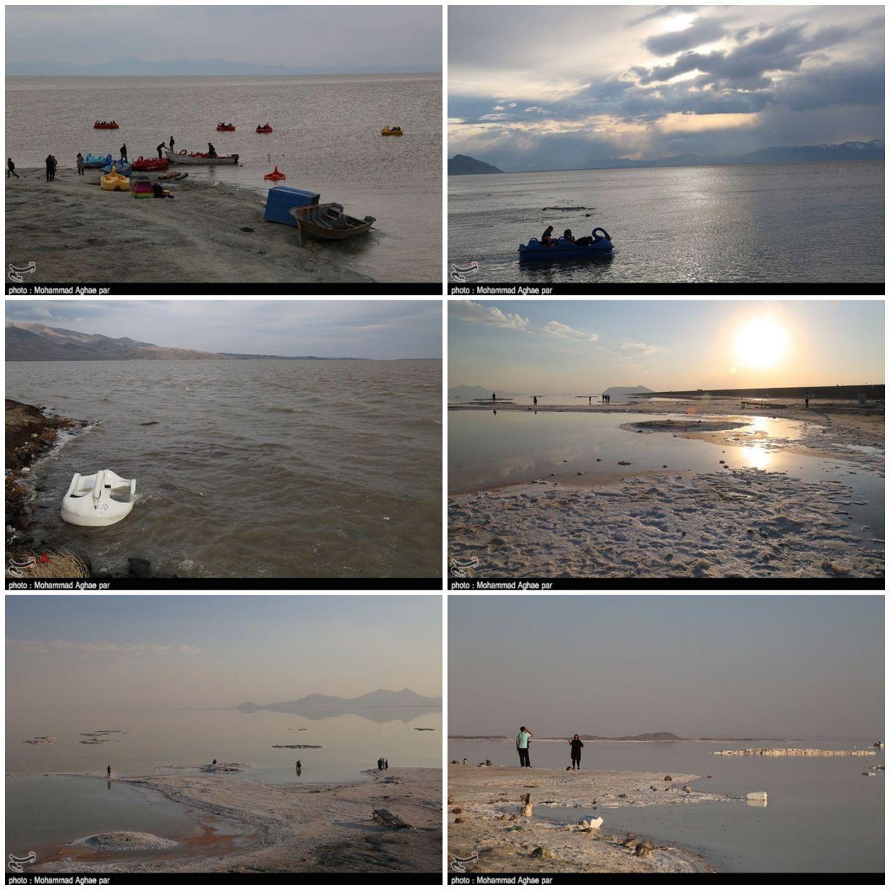 دریاچه ارومیه پرآب شد + عکس