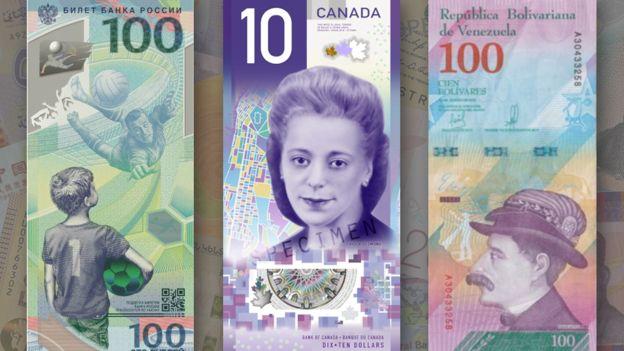 اسکناس عمودی کانادا برنده رقابت بهترین پول +عکس