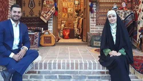مژده خنجری و شوهرش در کاروانسرای شاه عباسی + عکس