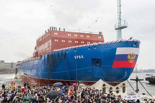 کشتی یخ شکن هستهای جدید روسیه + عکس