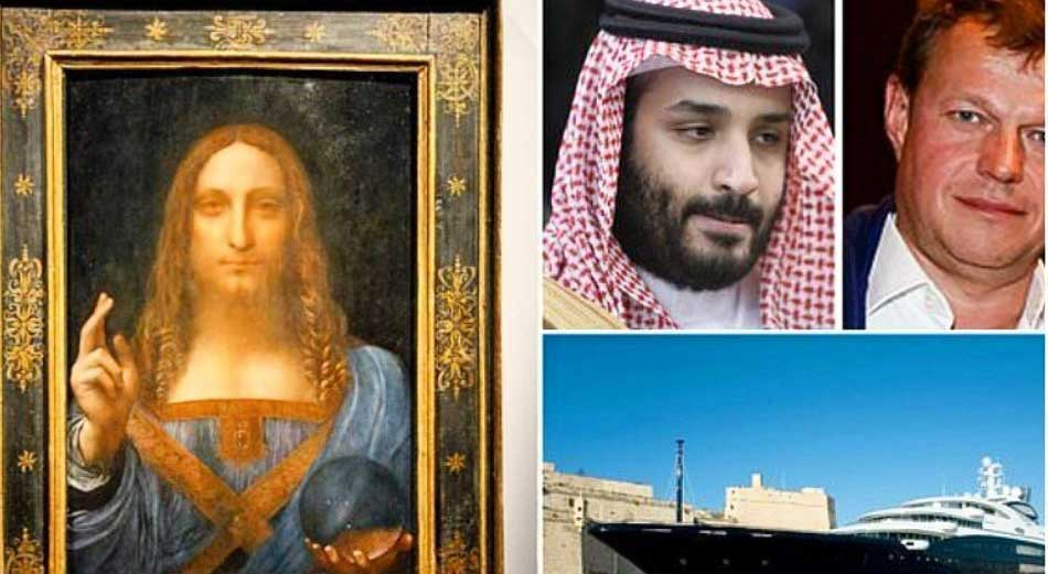 گرانترین نقاشی جهان در کشتی تفریحی ولیعهد عربستان + عکس
