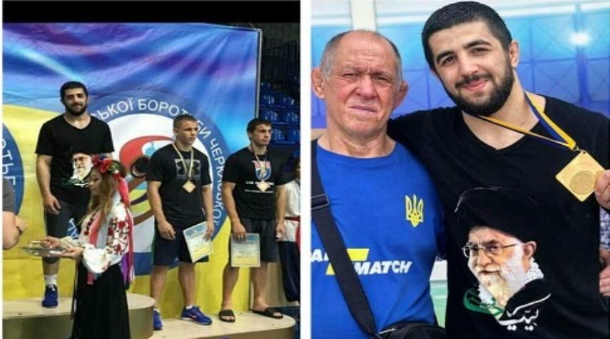 کشتیگیر اوکراینی علاقهمند به رهبر انقلاب کیست؟+عکس
