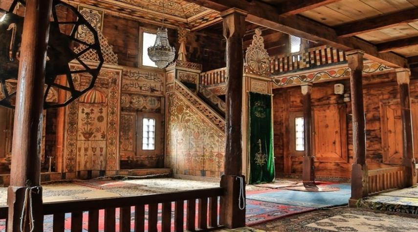 مسجد چوبی بدون میخ در ترکیه + عکس