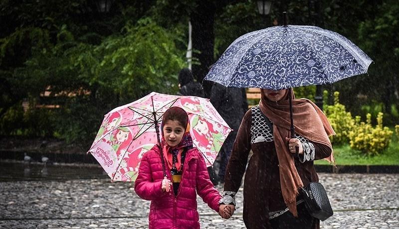 بارش باران همراه با رعد و برق در ۳ استان +جدول