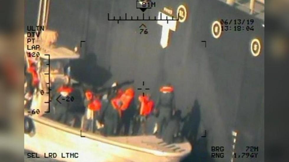 ببینید تصاویر جدید و مبهم از سوی پنتاگون درباره حمله به نفتکشها