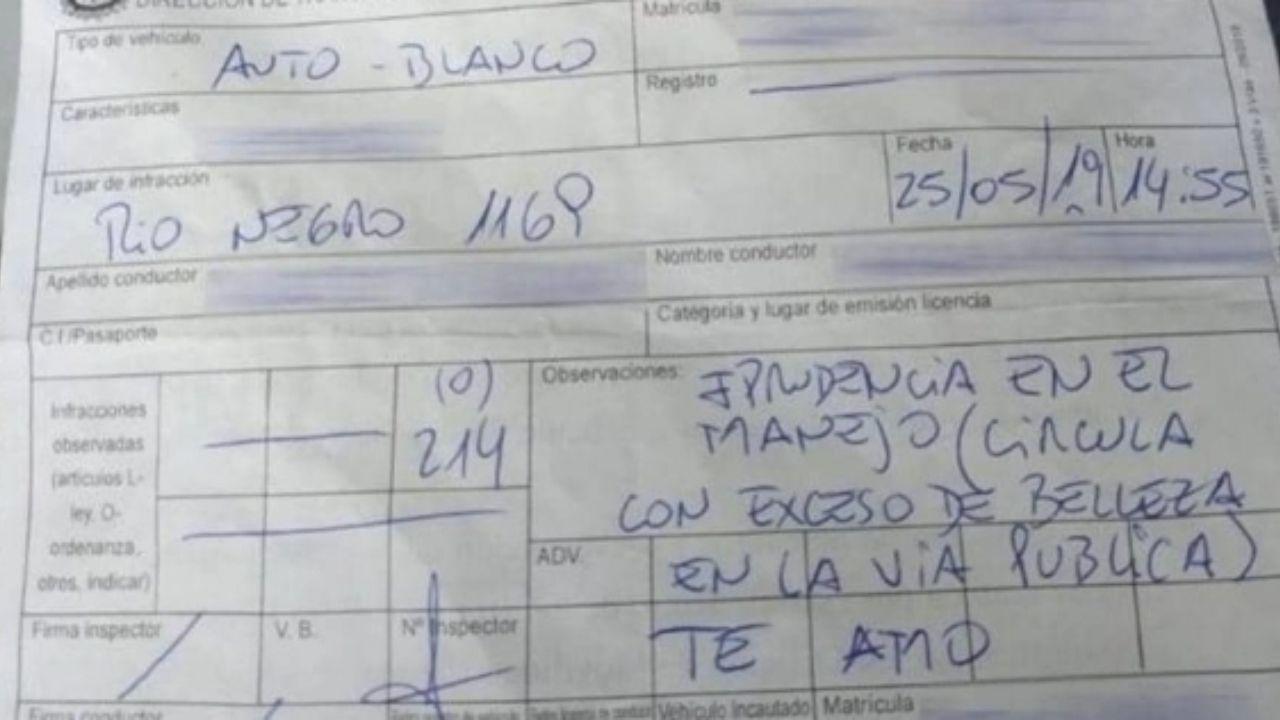 درخواست ازدواج روی قبض جریمه توسط پلیس! + عکس