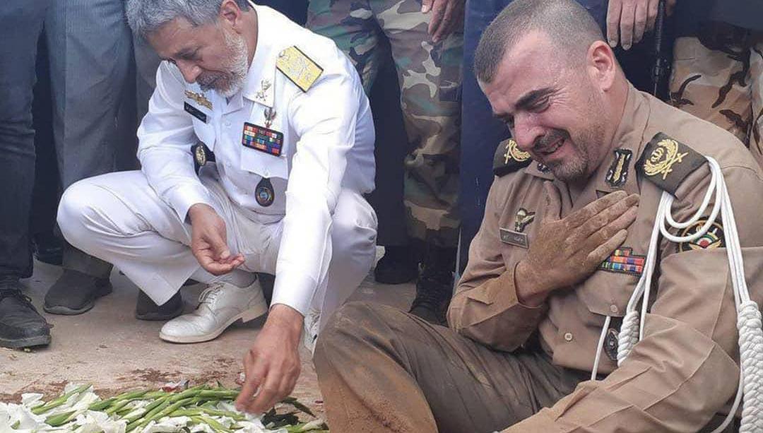 صحنه ای تامل برانگیز از فرمانده دژبان کل ارتش + عکس