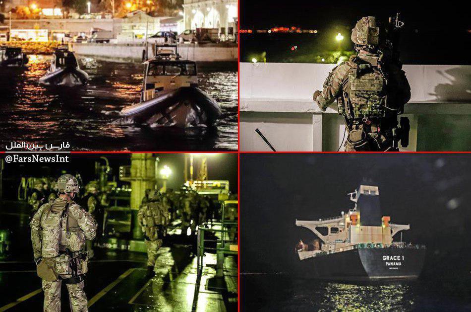 نظامیان انگلیسی روی عرشه نفتکش ایرانی + عکس
