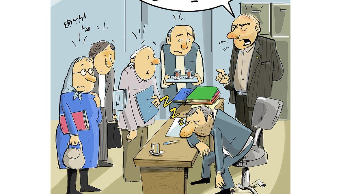 برخورد وزیر بهداشت به دلیل نبود بالش برای کارمند! + عکس