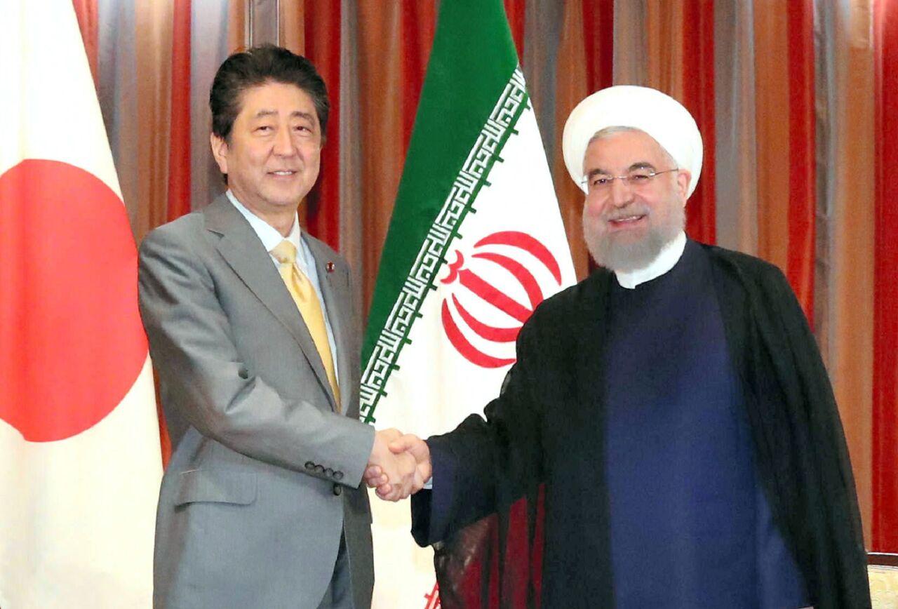 نخست وزیر ژاپن بار دیگر با رییس جمهوری ایران دیدار می کند+عکس