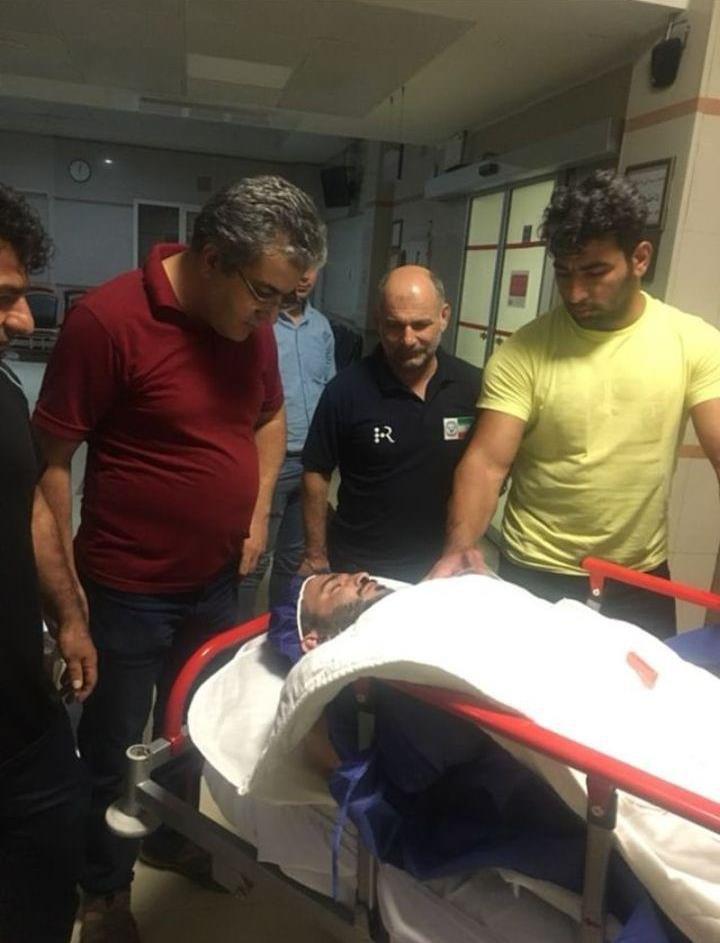 قهرمان وزنه برداری ایران در اتاق عمل + عکس