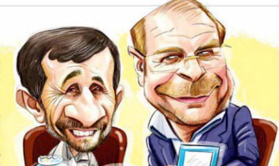 رسانه ای شدن دیدار قالیباف و احمدینژاد! + عکس