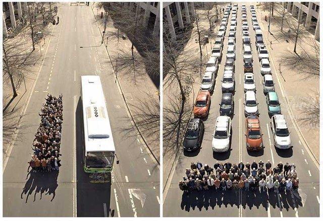 شیوه جالب ترویج استفاده از حمل و نقل عمومی + عکس