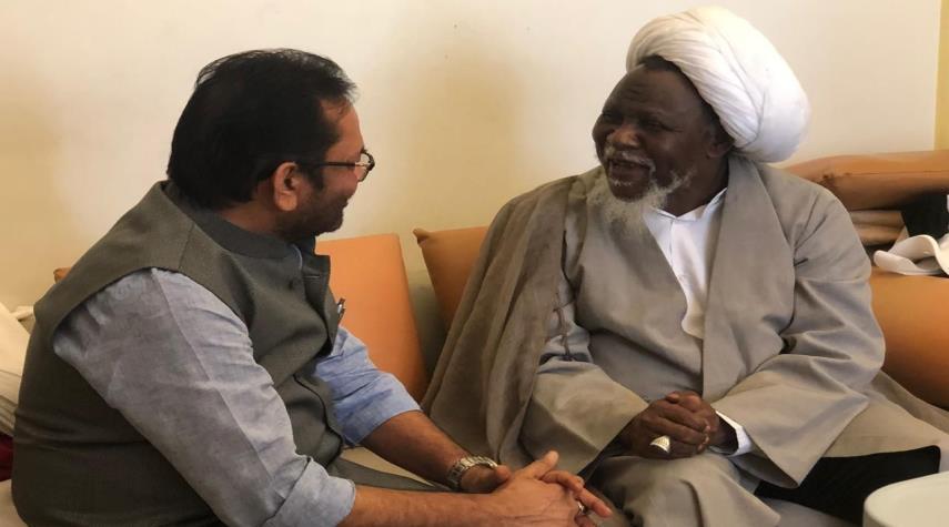 تصویر ملاقات وزیر اقلیت های هند با شیخ زکزاکی
