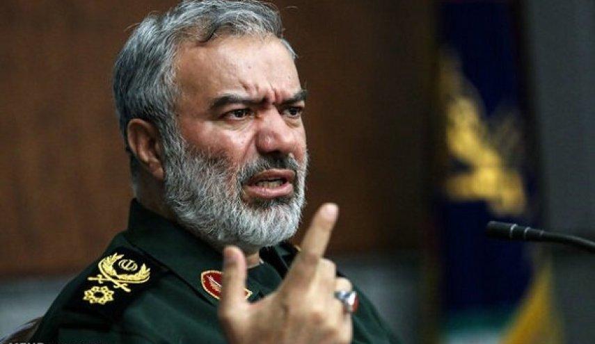 سردار فدوی: رئیس جمهور امریکا به ضعف خود و اقتدار ایران رسما اعتراف کرد+عکس