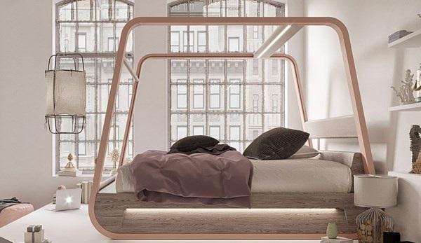 این تختخواب برای معتادان به تلویزیون طراحی شده است + تصاویر