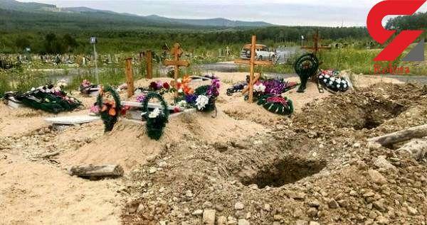 خرس گرسنه اجساد یک قبرستان را خورد + عکس