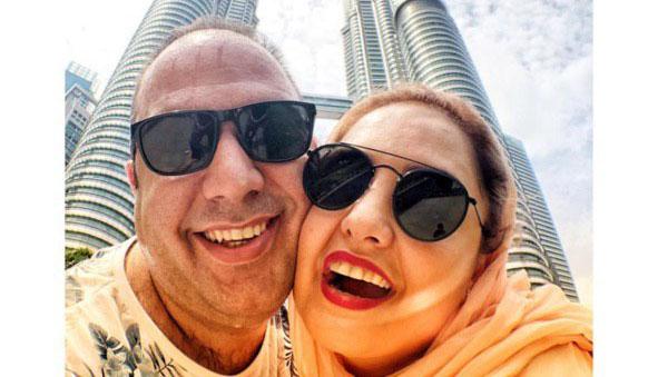 خوشگذرانی زوج معروف در خارج از کشور! + عکس