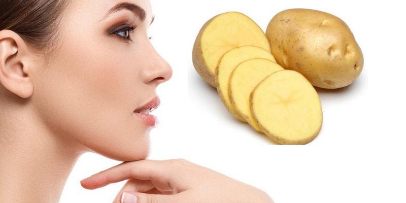 برطرف کردن لک صورت با سیب زمینی + طرز مصرف