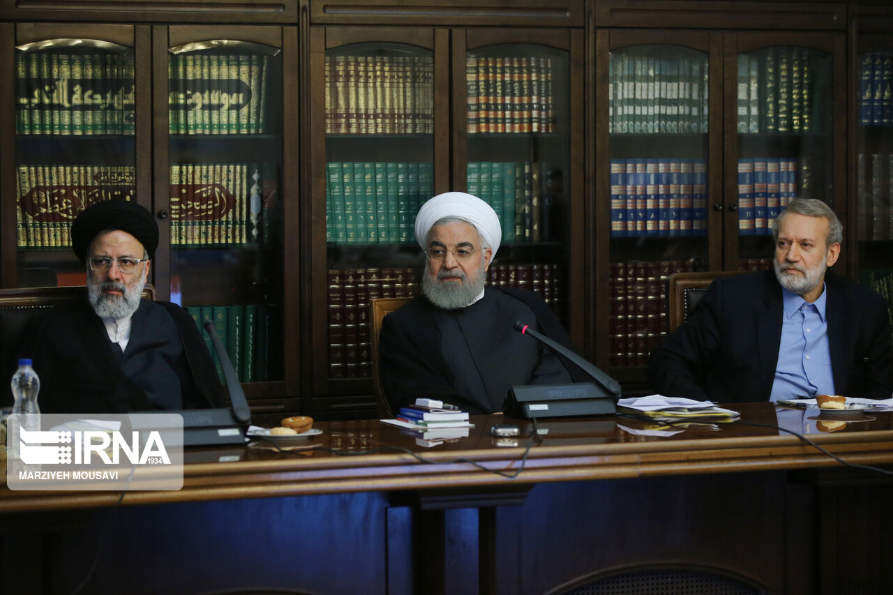 روسای قوا در جلسه شورای عالی فضای مجازی + عکس