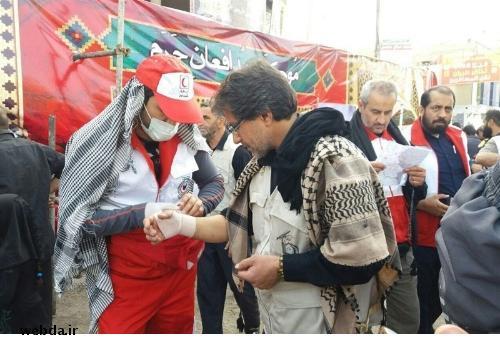 استقرار تیم پزشکان متخصص هلال احمر ایران در کربلا