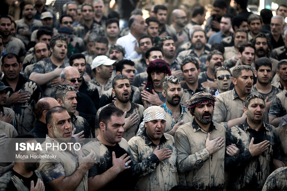 آیین گل مالی هیات لرستانی های مقیم تهران + عکس
