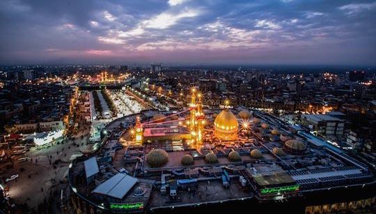 نمایی زیبا از حرم امام حسین (ع) + عکس