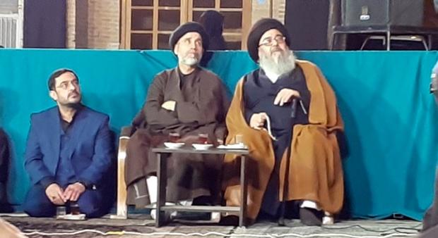 عزاداری سعید مرتضوی در کنار امام جمعه تفت! + عکس