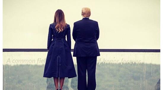 پشت لباس ملانیا ترامپ خبرساز شد! + عکس