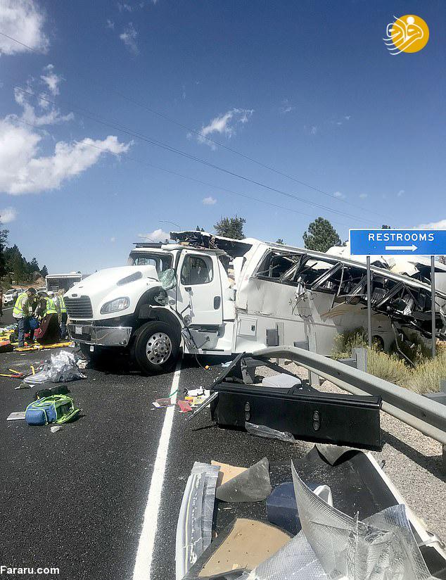 تصادف مرگبار اتوبوس گردشگران چینی + عکس