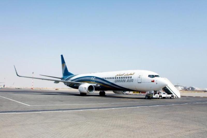 تصویری از هواپیمای بوئینگ عمانی که ساعاتی قبل در تبریز فرود اضطراری  کرد