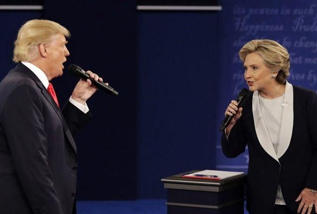 کلینتون خطاب به ترامپ: مرا وسوسه نکن، کار خودت را بکن