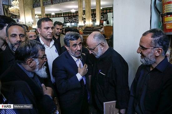 احمدینژاد و دوستان در یک مراسم ختم + عکس