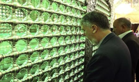 تصاویر تشرف وزیر ارشاد به حرم حضرت شاهچراغ(ع)