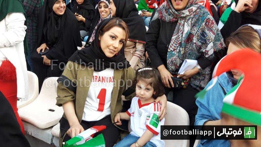 حضور خانواده بیرانوند در ورزشگاه آزادی + عکس